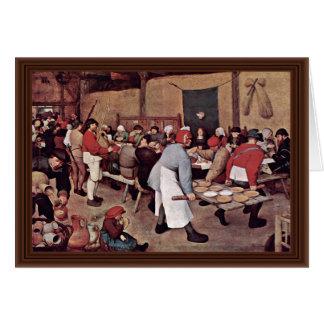 Boda campesino por Bruegel D. Ä. Pieter Felicitación