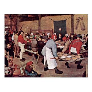 Boda campesino por Bruegel D Ä Pieter Tarjetas Postales