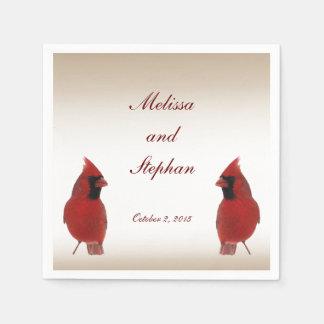 Boda cardinal servilletas de papel