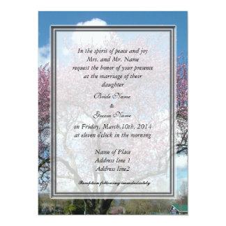 boda, cereza de la invitación del padre de la