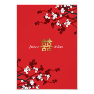 Boda chino de la felicidad doble de las flores de comunicados personales