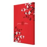 Boda chino de la felicidad doble de las flores de  lona envuelta para galerías