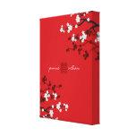 Boda chino de la felicidad doble de las flores de  lienzo envuelto para galerías