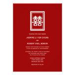Boda chino elegante moderno del logotipo doble de  invitacion personalizada