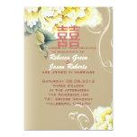 boda chino floral del peony moderno del vintage comunicado personal