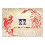 "Boda chino moderno de Dragón-Phoenix Invitación 5"" X 7"""