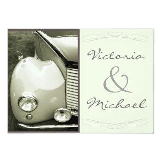 Boda clásico del motor del vintage invitaciones personales
