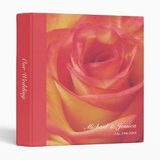 """Boda color de rosa rosado amelocotonado carpeta 1"""""""