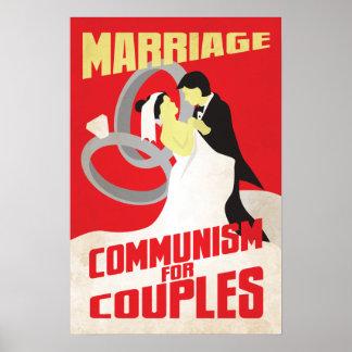 Boda Comunismo para los pares Posters