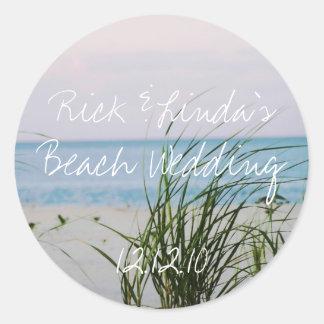 Boda con playas - pegatina