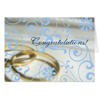 Boda Congrats (color adaptable!) Tarjeta De Felicitación
