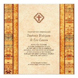 Boda cuadrado cruzado cristiano de la fiesta invitación 13,3 cm x 13,3cm