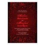 Boda de color rojo oscuro del Victorian gótico Comunicados Personalizados
