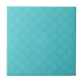 Boda de cuero acolchado aguamarina azulejo