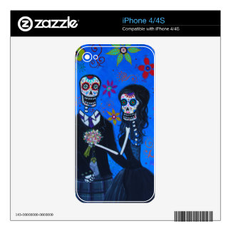 Boda de Dia de los Muertos Special Calcomanía Para iPhone 4S