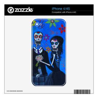 Boda de Dia de los Muertos Special iPhone 4 Skins