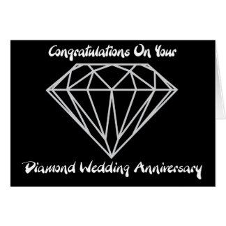 Boda de diamante tarjeta de felicitación