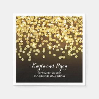 boda de diamantes del oro servilletas desechables