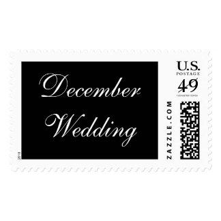 Boda de diciembre formal sellos postales