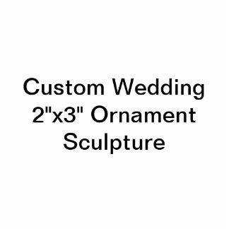 """Boda de encargo 2"""""""" escultura del ornamento x3 adorno fotoescultura"""