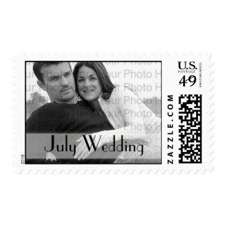 Boda de encargo de julio del franqueo del boda de sellos postales