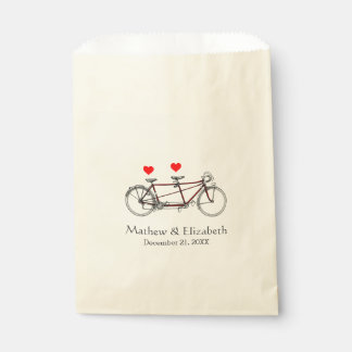 Boda de encargo de la bicicleta en tándem linda bolsas de recuerdo