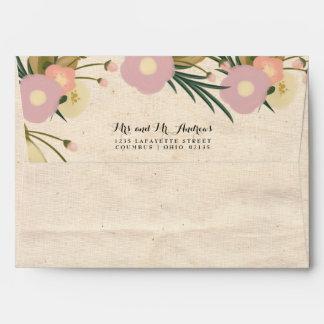 Boda de encargo de la lona floral rústica de la sobres