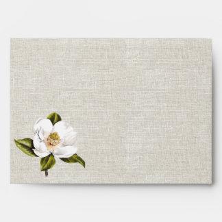 Boda de encargo de la magnolia meridional de la be sobre