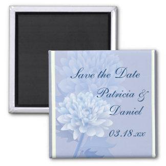 Boda de encargo de las flores azules imán de frigorifico