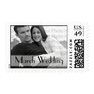 Boda de encargo de marzo del franqueo del boda de estampillas