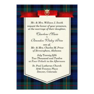 Boda de encargo elegante de la tela escocesa de ta