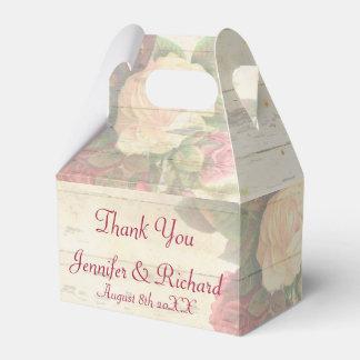 Boda de encargo elegante lamentable de los rosas cajas para detalles de boda