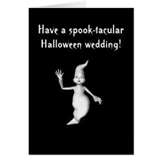 Boda de Halloween del Espectro-tacular - Fantas Tarjeton