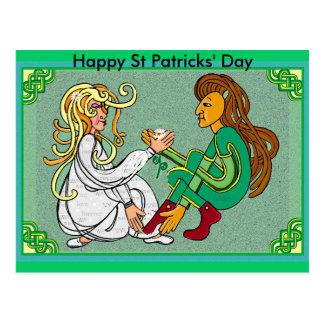 Boda de Handfast, día del St Patricks feliz Postal