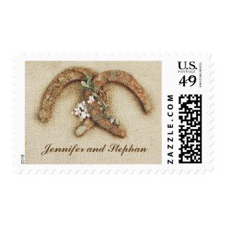 boda de herradura de los pares del país rústico de sellos postales