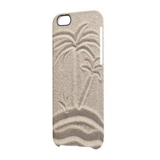 Boda de la arena de la playa de la isla del océano funda clearly™ deflector para iPhone 6 de uncommon