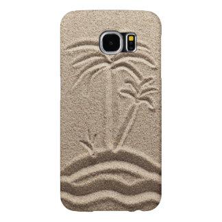 Boda de la arena de la playa de la isla del océano fundas samsung galaxy s6