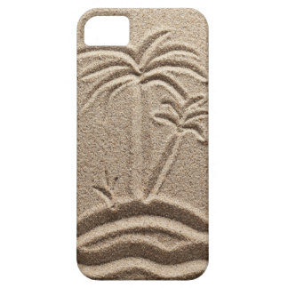 Boda de la arena de la playa de la isla del océano iPhone 5 funda
