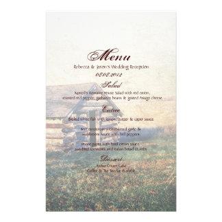 boda de la cabina de la montaña del país papelería de diseño