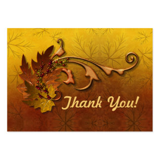 Boda de la caída de las hojas de otoño - gracias tarjetas de visita