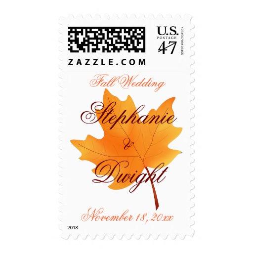 Boda de la caída timbres postales
