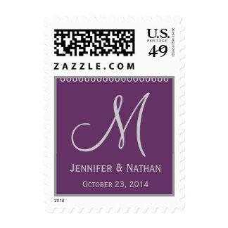 Boda de la fecha del monograma de los nombres de sellos
