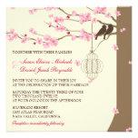 Boda de la flor de cerezo de la jaula del vintage  invitacion personal