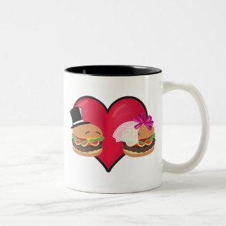 Boda de la hamburguesa -- Juego del ASL en Taza De Dos Tonos