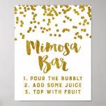Boda de la muestra de la barra del Mimosa del Póster
