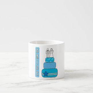 Boda de la novia tazas espresso