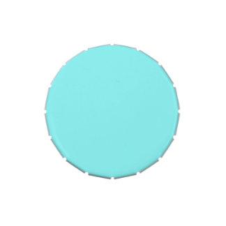 Boda de la parte alta azul del diseñador del chica latas de caramelos