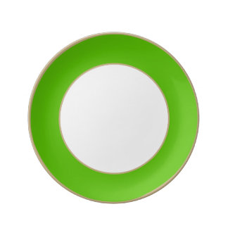 Boda de la parte alta del chica de la verde lima platos de cerámica
