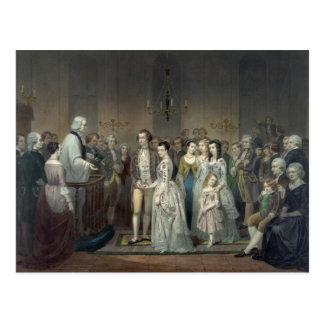 Boda de la postal de George Washington