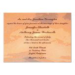 Boda de la puesta del sol del otoño invitación 13,9 x 19,0 cm